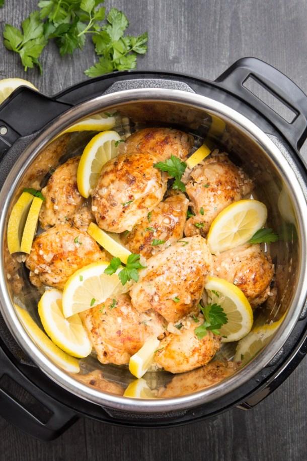 Instant Pot Lemon Garlic Chicken { Low Carb, Paleo, Whole 30 }