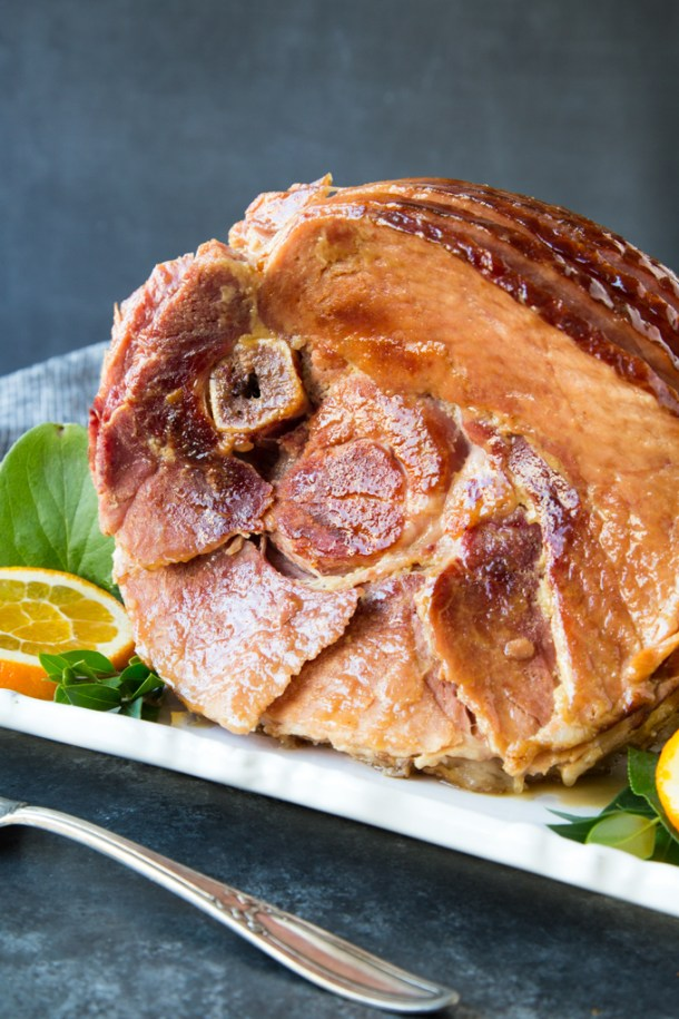 Instant Pot Brown Sugar & Maple Glazed Spiral Ham