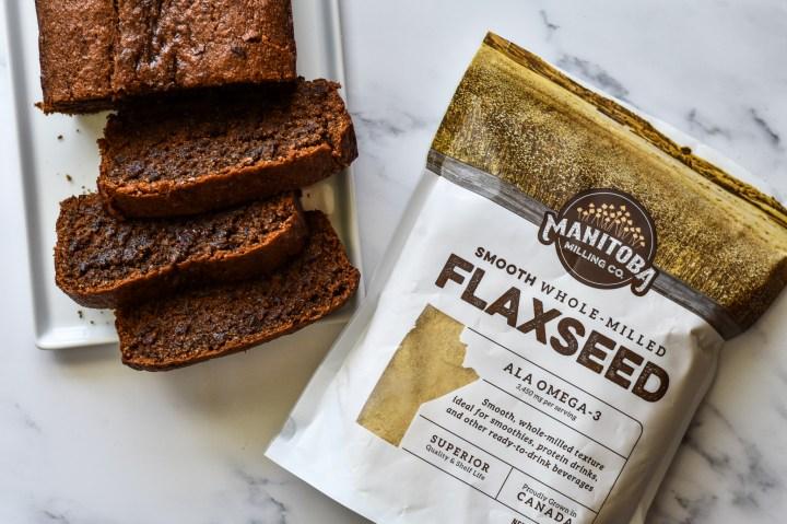 banana bread with flax seed