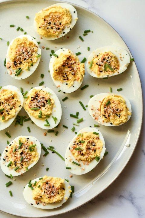 Everything Bagel Deviled Eggs