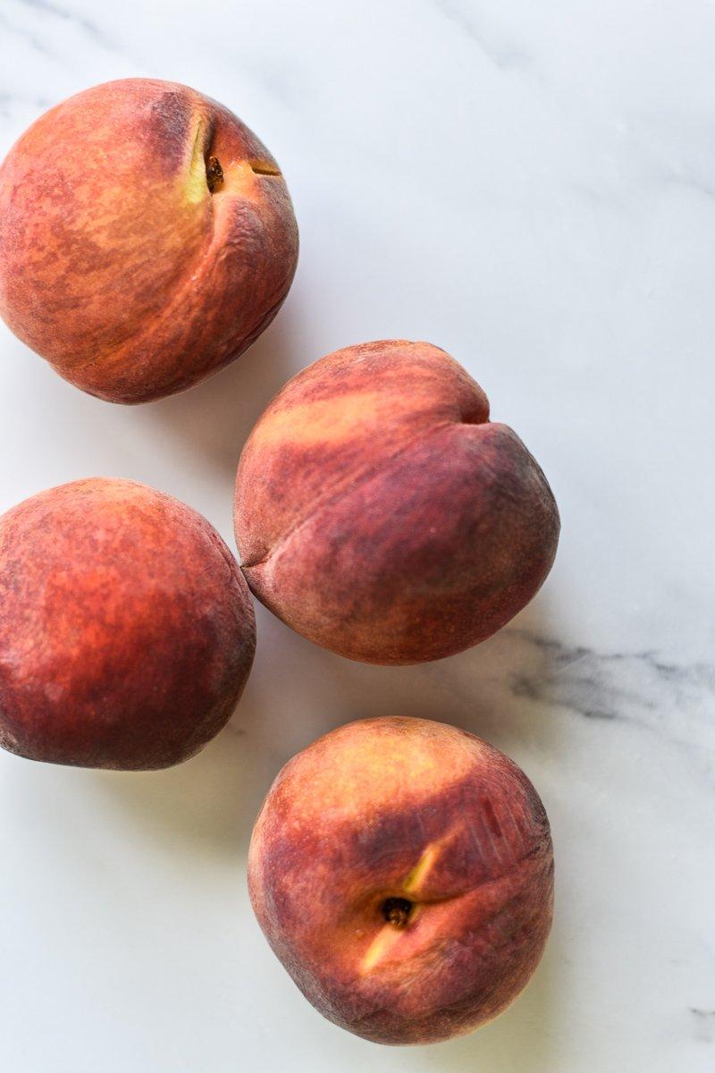 colorado palisade peaches on a countertop