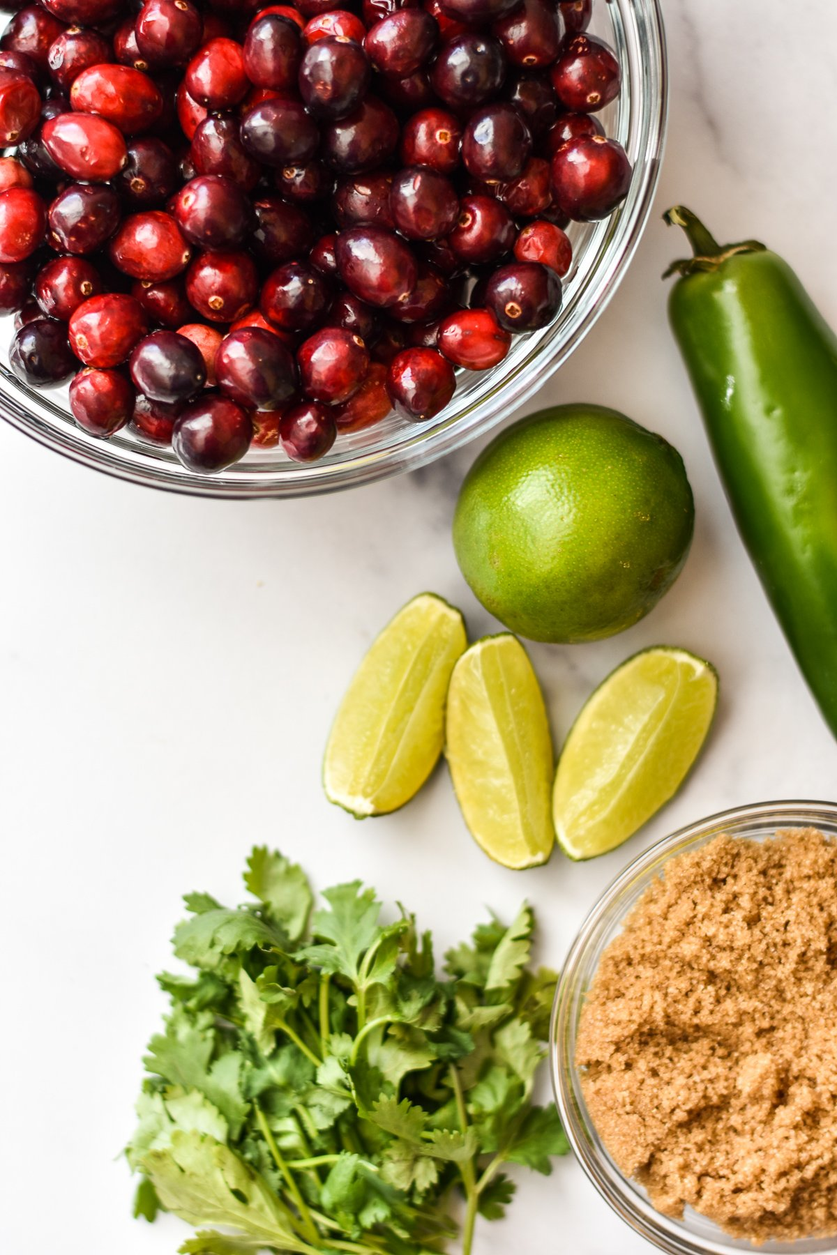 ingredients for jalapeno cranberry dip