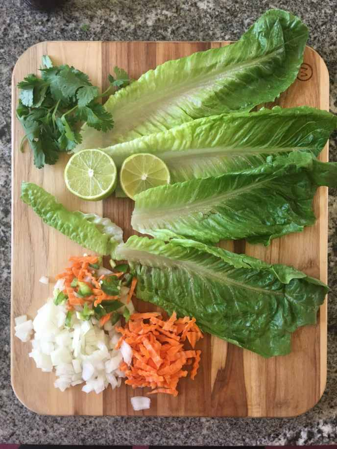 Healthyish BBQ Tofu Lettuce Cups