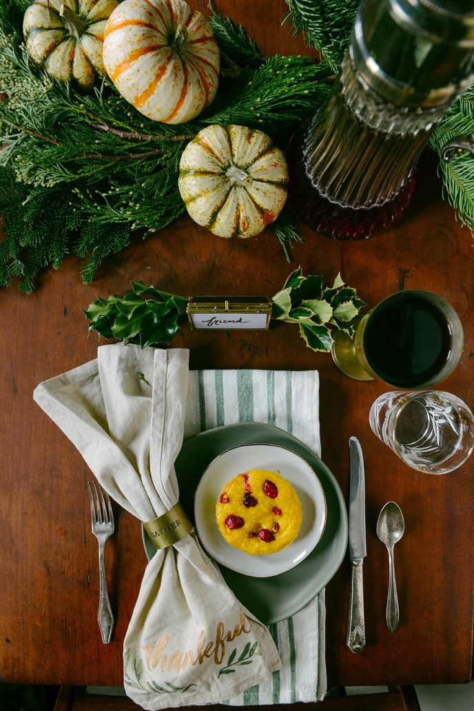 A Healthyish Thanksgiving Place Setting // www.HealthyishFoods.com