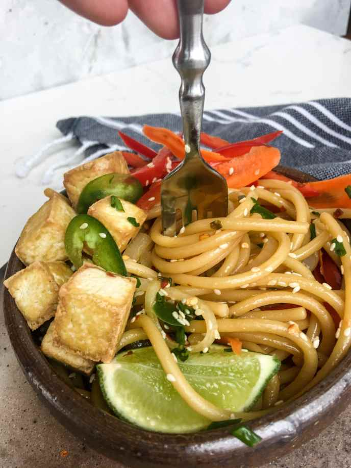 Vegetarian Asian Noodles, A Healthyish Brand Recipe