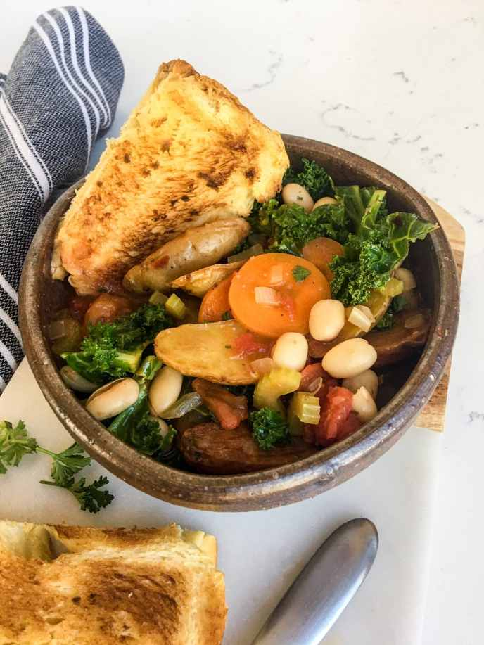 Vegetarian Stew with Crispy Fingerling Potatoes, A Healthyish Brands Recipe