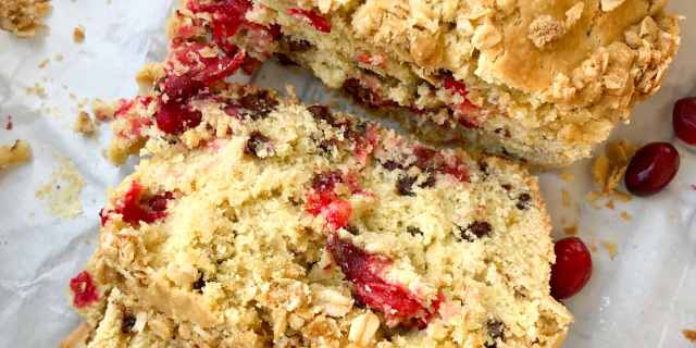 Gluten Free, Cranberry Chocolate Chip Bread