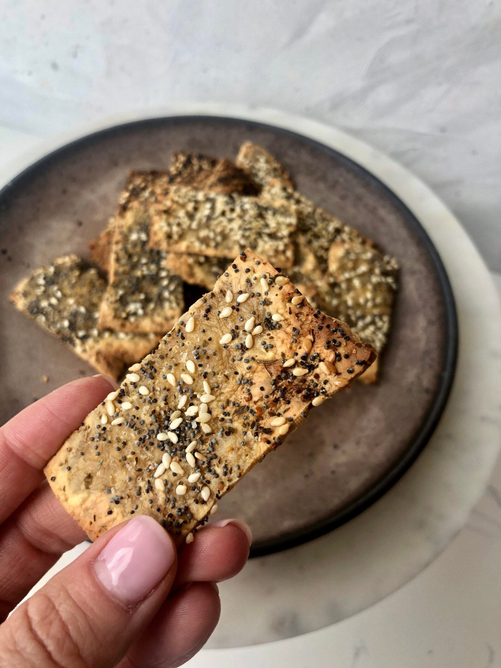 2 Ingredient Gluten Free Tofu Crackers, Healthyish Brand