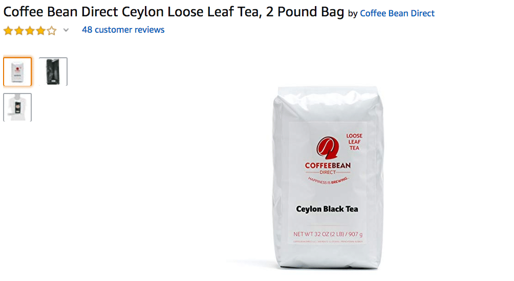 Coffee Bean Direct Ceylon Loose Leaf Tea Amazon