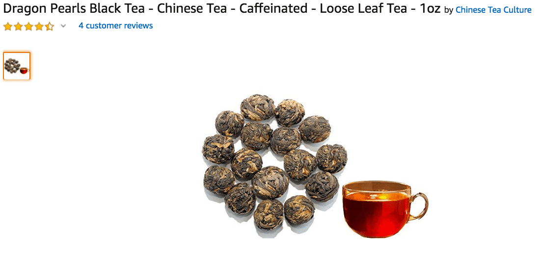 Dragon Pearls Black Tea Loose Leaf Amazon
