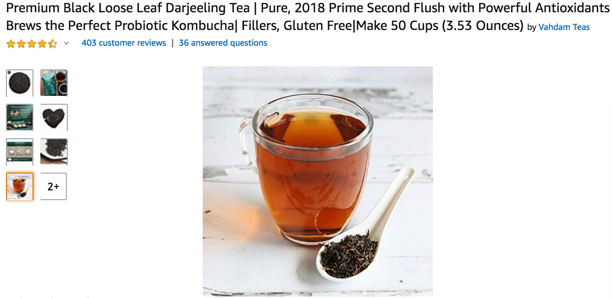 Premium Black Loose Leaf Darjeeling Tea Amazon