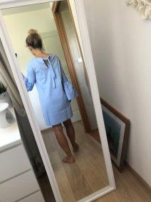 3 Dos Robe bleu