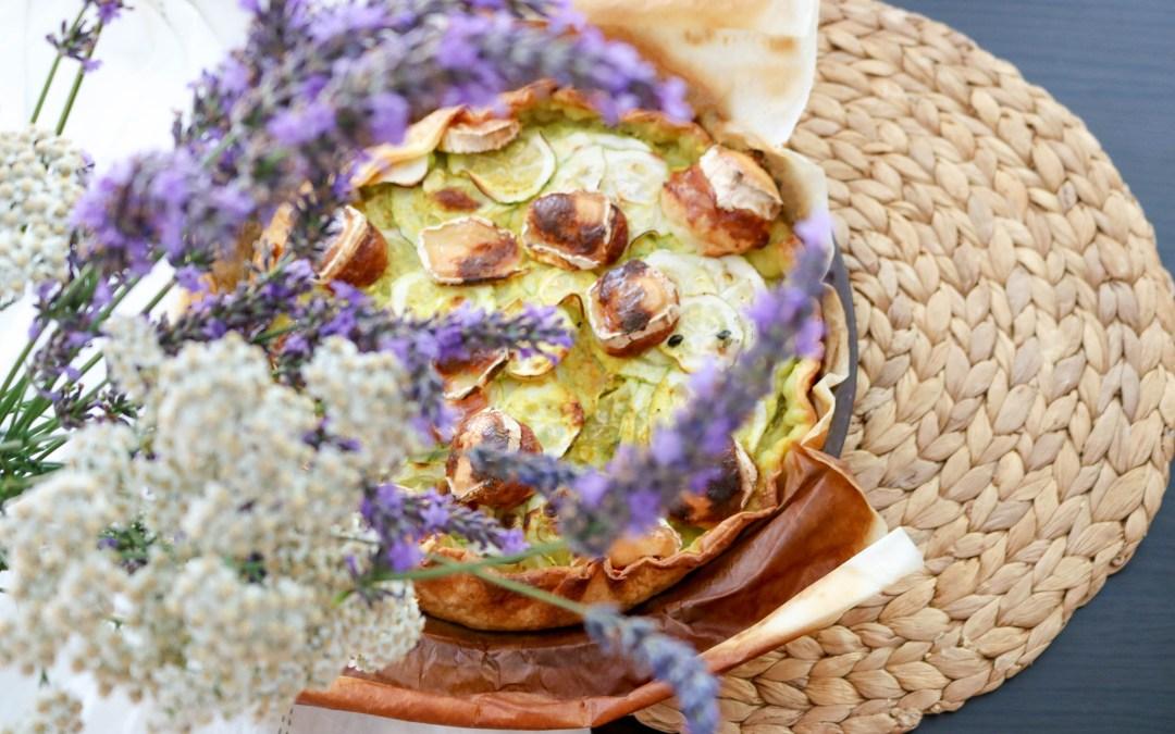 Tarte à la courgette au chèvre et au curry: Recette, la courgette à l'honneur