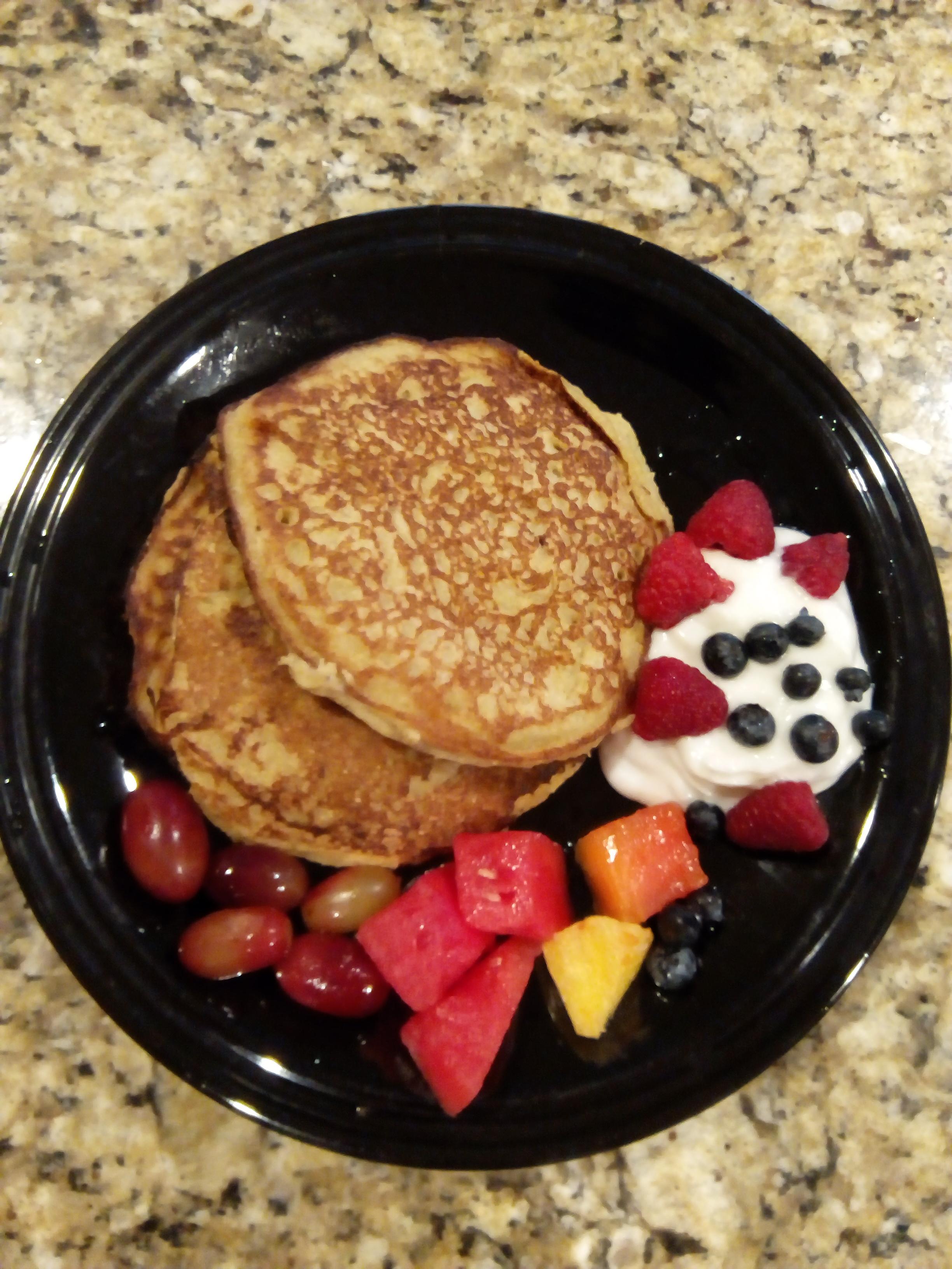 Plantain Oatmeal Pancakes