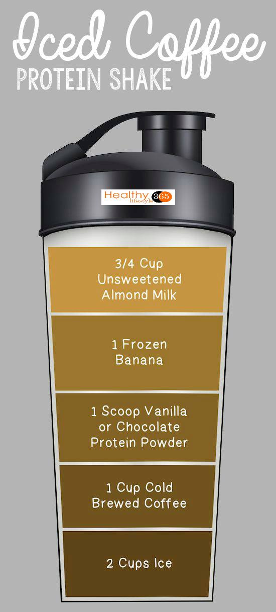 Iced Coffee Protein Shake for weight loss