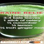 MIGRAINE RELIEVER JUICE RECIPE RICH IN MAGNESIUM, CALCIUM AND POTASSIUM