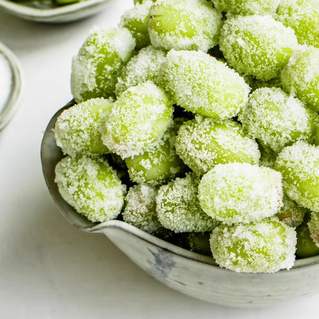 Healthy Sour Candy Frozen Grapes