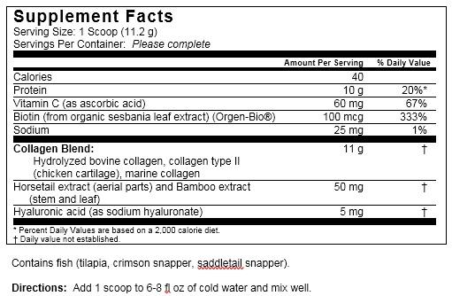 Collagen ingredients