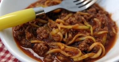 """Spaghetti"" with Beef Sauce"