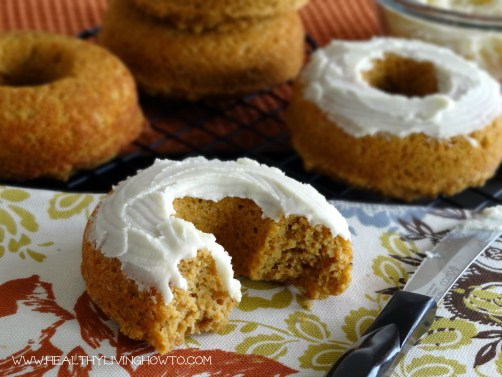 Pumpkin Donuts with Vanilla Buttercream Frosting