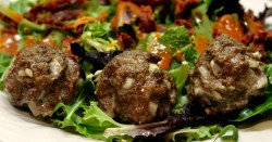 Oven Baked Lamb Meatballs