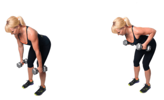 DB Double Bent-Over Row | healthylivinghowto.com