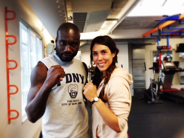 boxing at fitness mosaic with kieon and eliza flynn