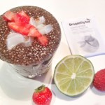 White Tea Chia Pudding with Lychee & Strawberries