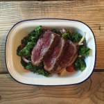 Healthy Venison Fillet and Wilted Kale Salad by Eat Wild
