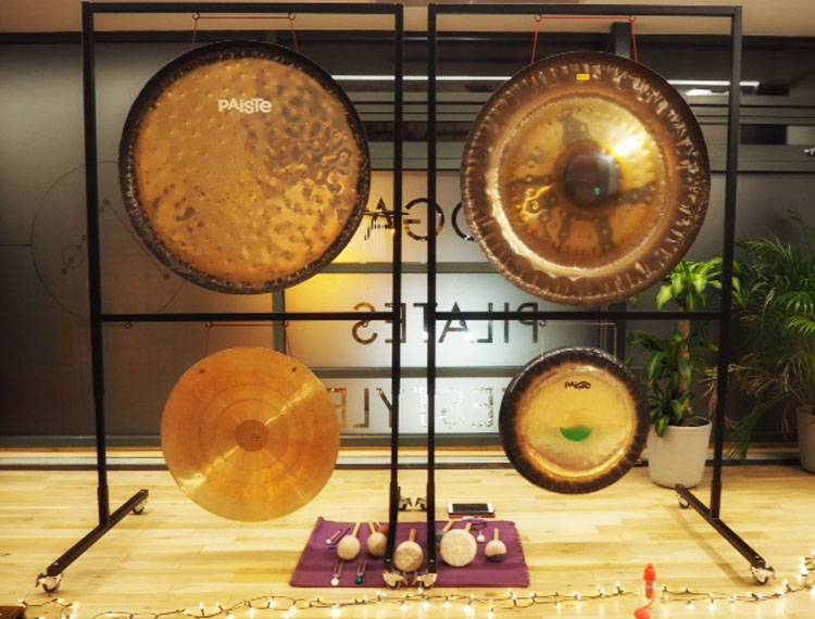 Ommersion yin yoga and gong bath