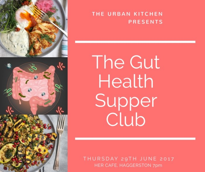 gut health supper club with the urban kitchen