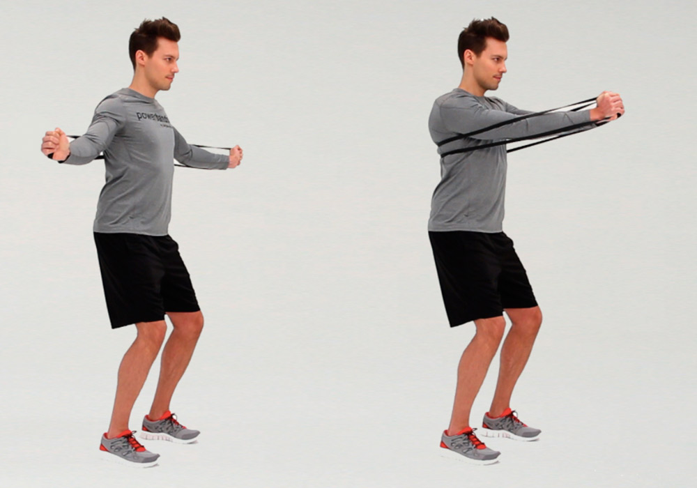 Powerband full body workout - fly