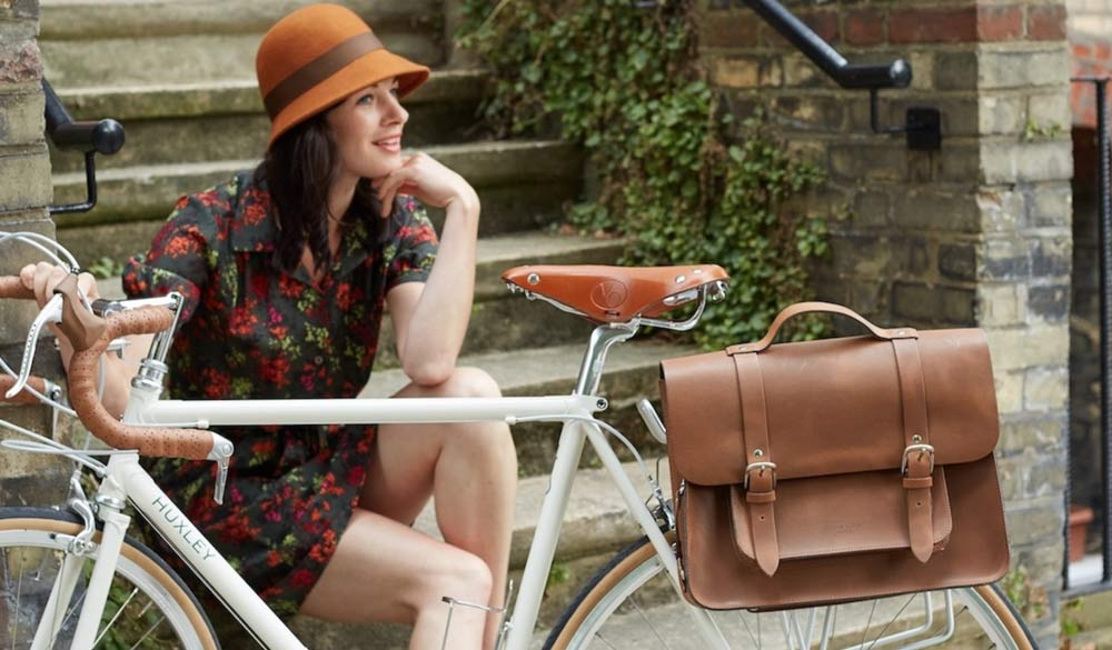 Hill & Ellis satchel bike bag - chic cycle wear