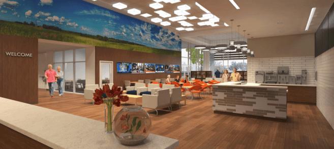Main Social Lounge at Healthy Living Okc