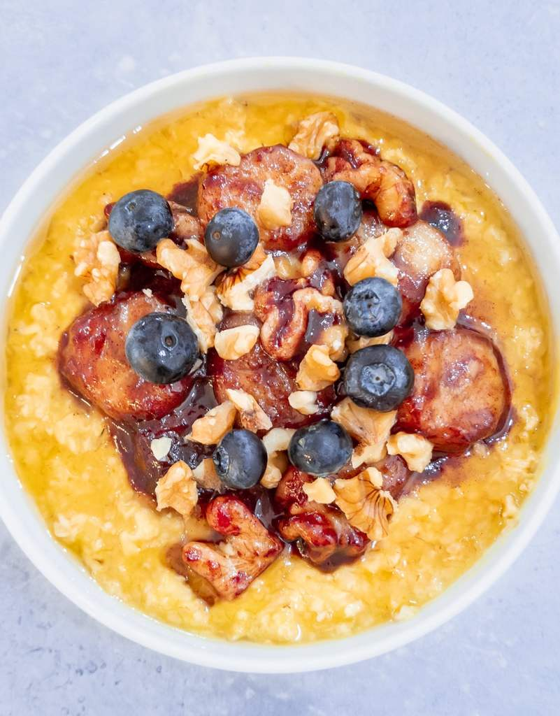 creamy pumpkin porridge