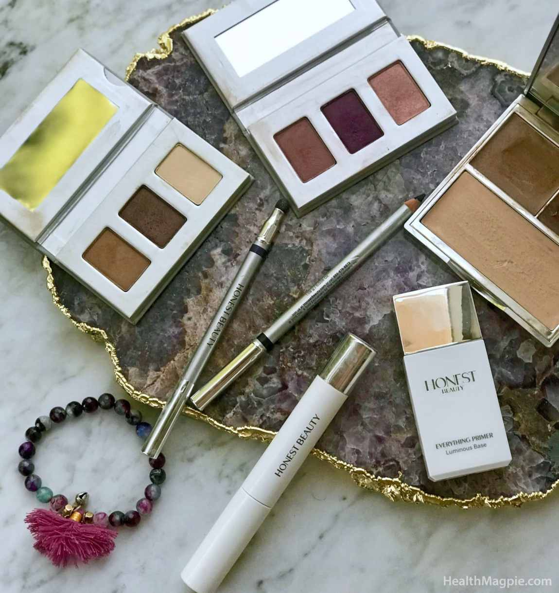 Pictures and reviews of Jessica Alba's Honest Beauty clean beauty and makeup line at target that received a design update and relaunch in 2018