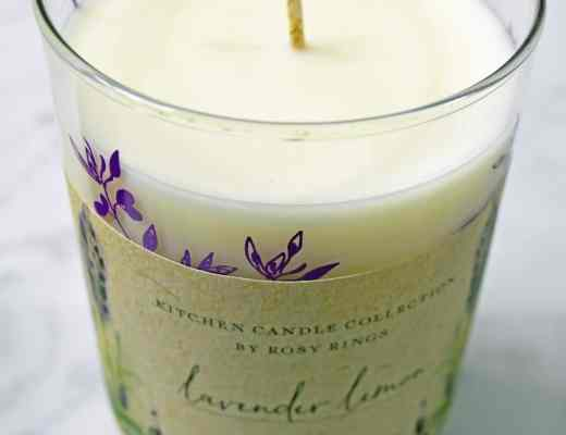 Rosy Rings Botanical Lavender and Lemon Natural Kitchen Candle