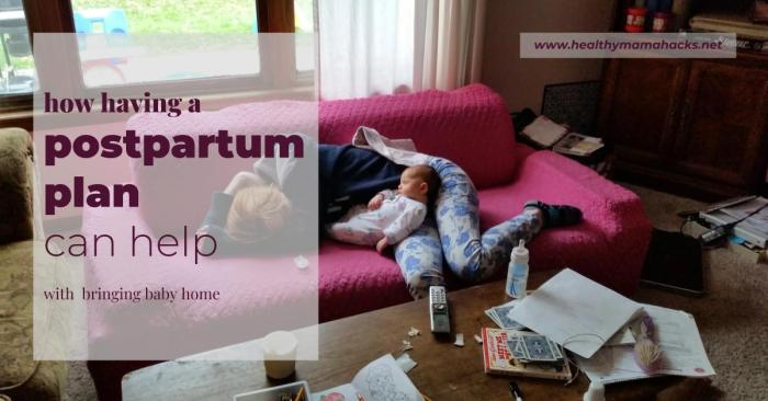 How a postpartum plan helps with an easier postpartum recovery!