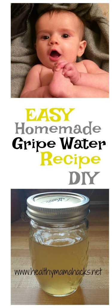 How to make your own homemade gripe water. Easy DIY recipe!