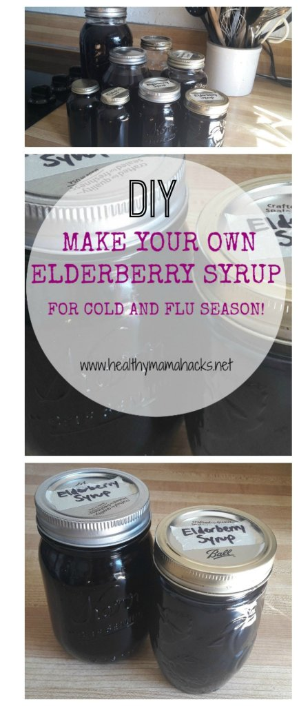 How to make elderberry syrup for cold and flu season!
