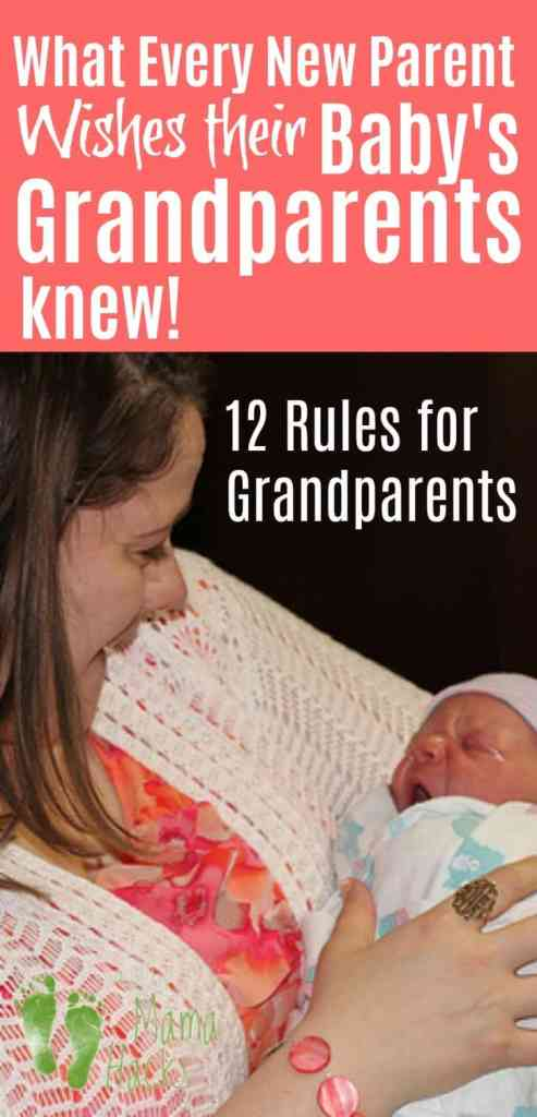 Many new parents wish that their baby's grandparents could be more supportive. How can grandparents be more helpful? Are there rules for grandparents? #newborns, #grandparents, #rulesforgrandparents