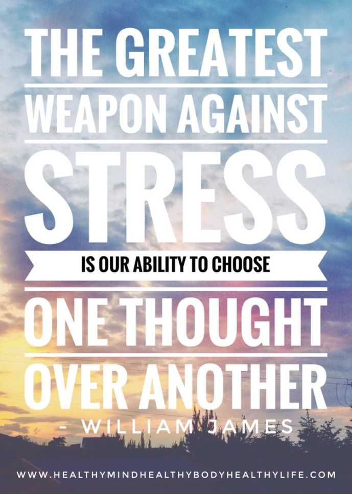 Quote on How to neutralize stress