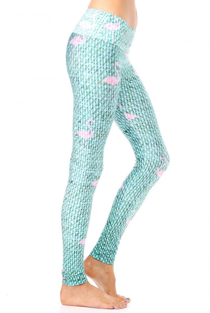These flamingo leggings are perfect for your next yoga class or to treat a friend as a unique gift. Calling all yoga legging lovers!