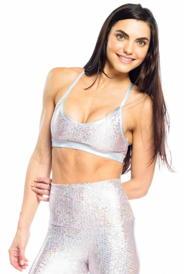 Pink Mermaid Bralette, Yoga and fitness wear for women