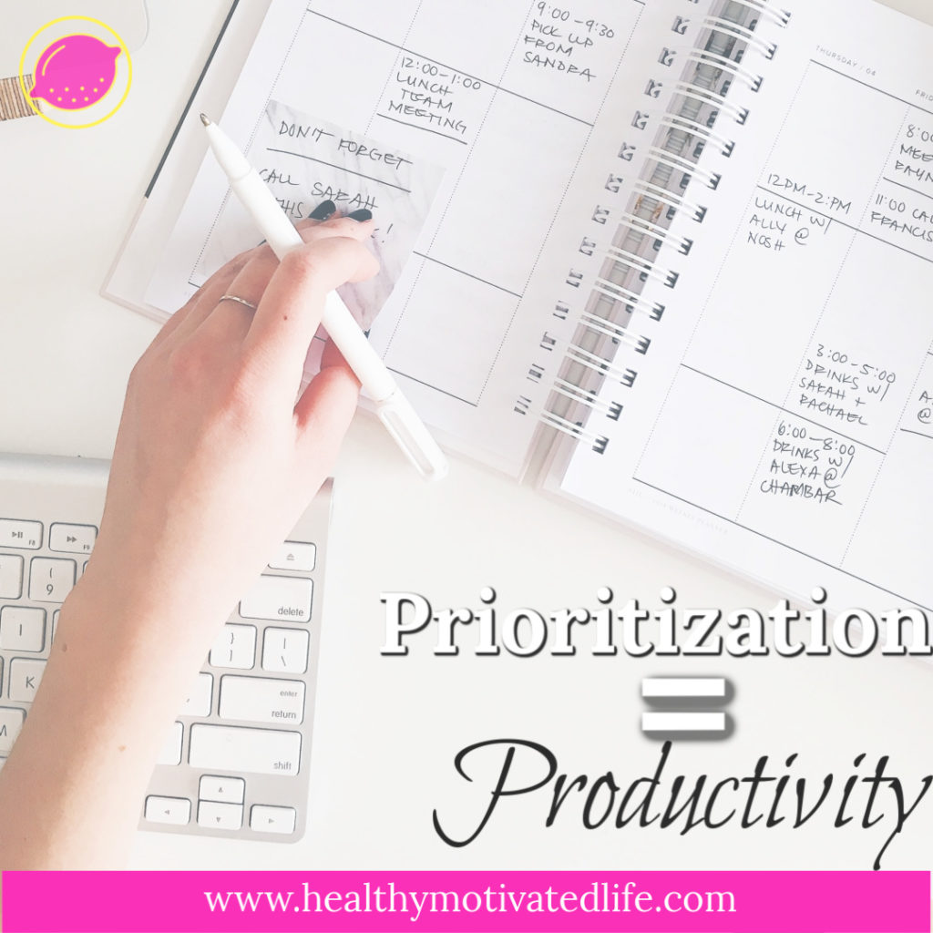 Prioritization Productivity