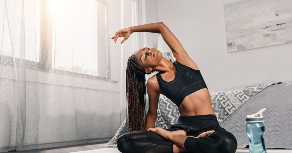 Yoga can help you lose the gut.