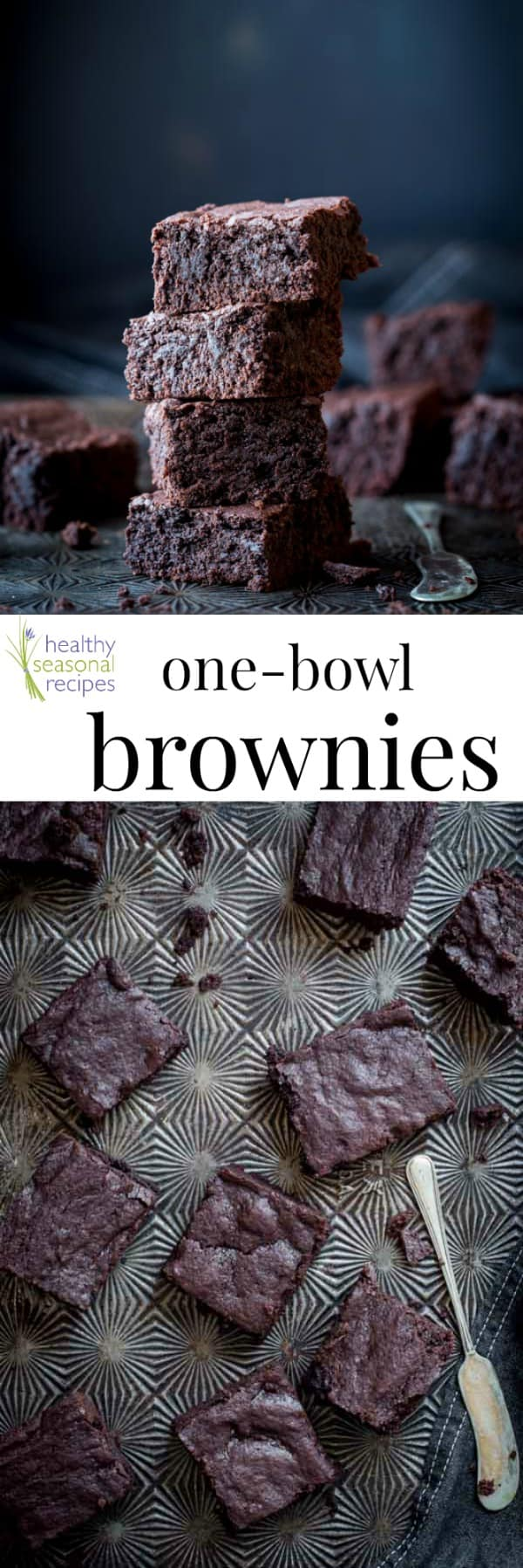 These one bowl brownies require 10 minutes of hands-on prep work and are perfectly dense, moist, and fudgy. The easiest brownie recipe ever? Definitely! #chocolate #dessert #onebowl #easy #fast #brownies #fudgy #brownierecipe