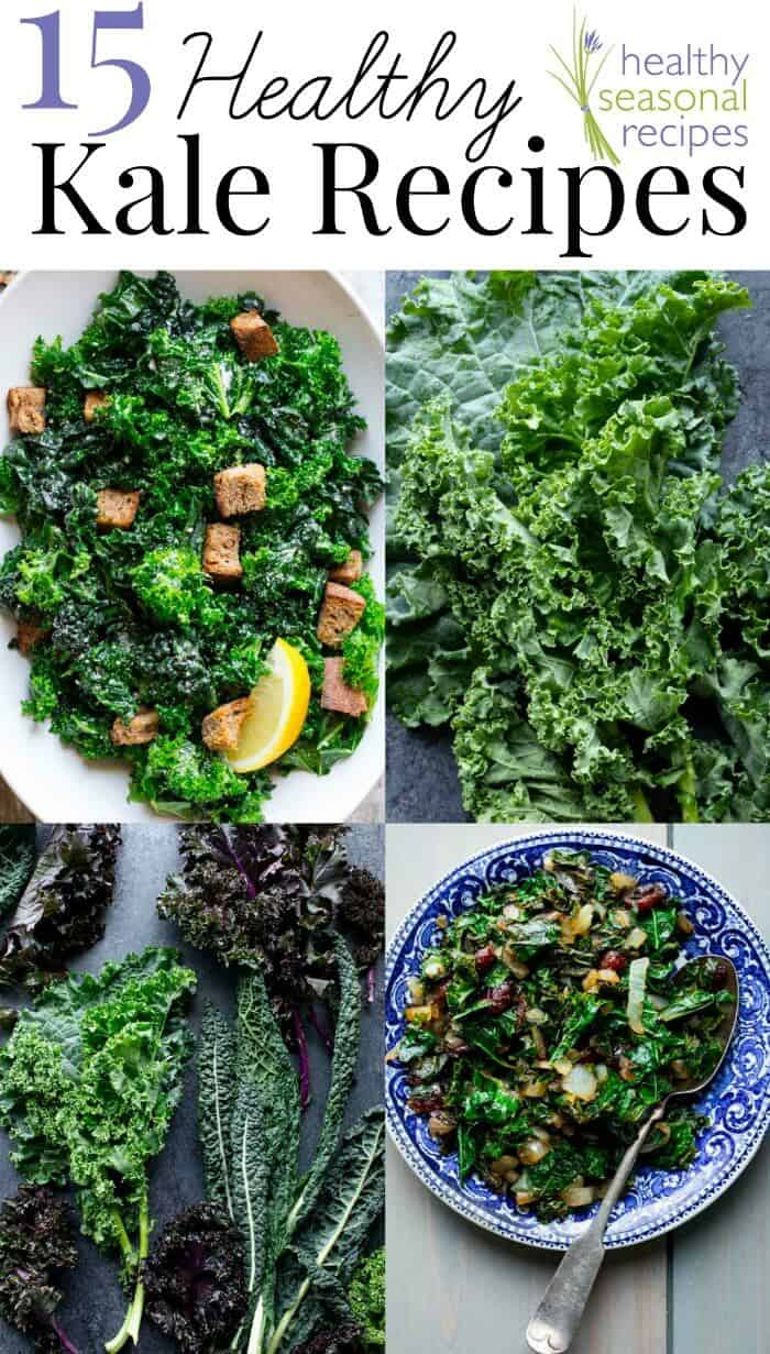 Kale has taken over the superfood spotlight over the past few years. Curious what all the hype is about? How does kale grow, anyway? And why should you put kale in juices or smoothies? Does kale cause bloating? Or does kale make you lose weight? Dive in to the Ultimate Guide to Kale below for answers to these questions and more. Bonus: countless delectable recipes at the bottom. Enjoy! | Healthy Seasonal Recipes by Katie Webster #kale #producespotlight