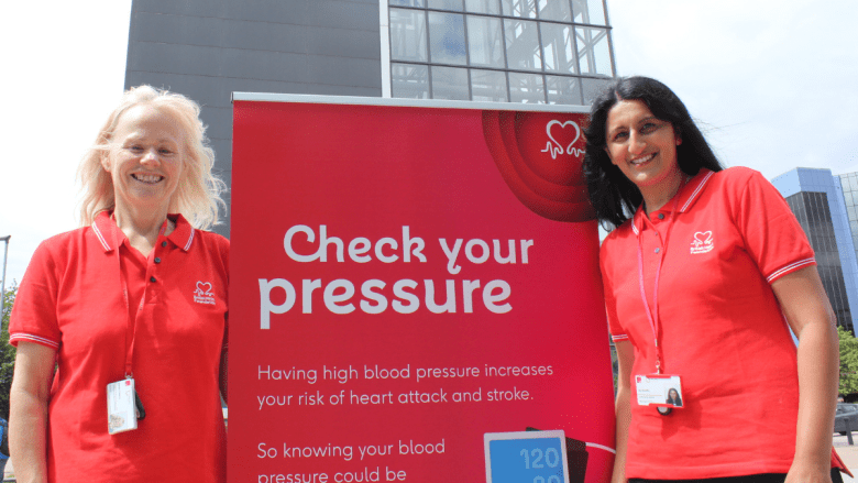 Marian and Jaz, Telford and Wrekin Council's Blood Pressure Advisors.