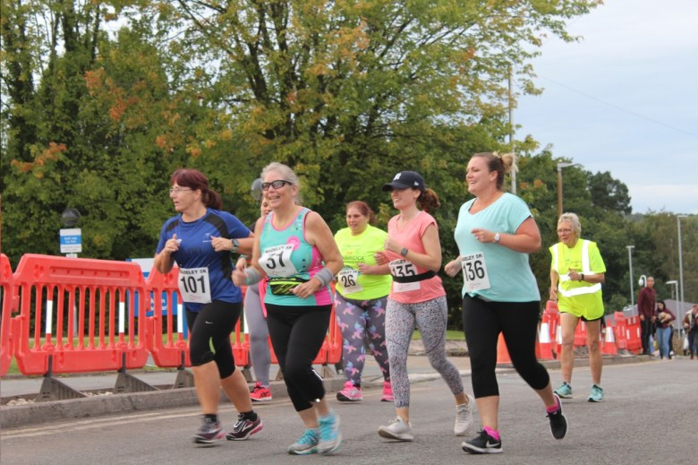 People running in the Madley 5K